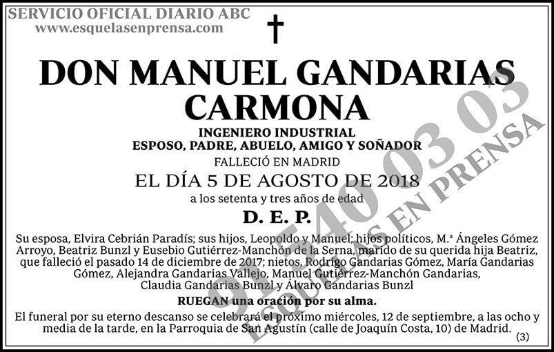 Manuel Gandarias Carmona